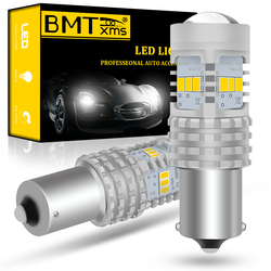 BMTxms Canbus P21W 1156 BA15S Car LED Bulbs 6000K White For SEAT LEON 1 2 3 MK1 MK2 MK3 1M 1P 5F ST DRL Back-Up Reverse Lights