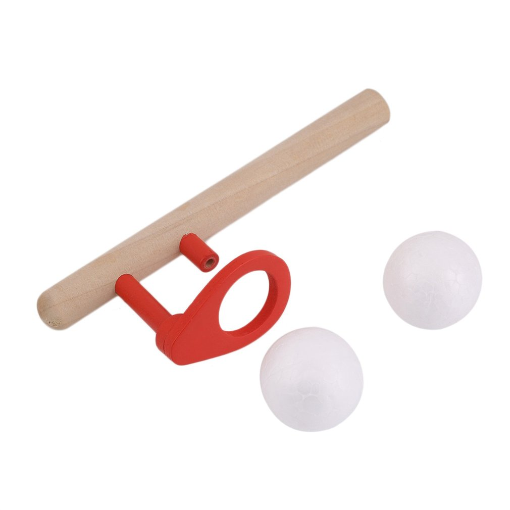 Hot! 3sets Montessori Materials Baby Wooden Blow Hobbies Outdoor Fun Sports Toy Ball Foam Floating Ball New Sale
