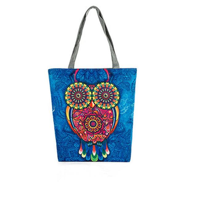 Cute Animals Canvas Tote Print Eco Shopping Bag