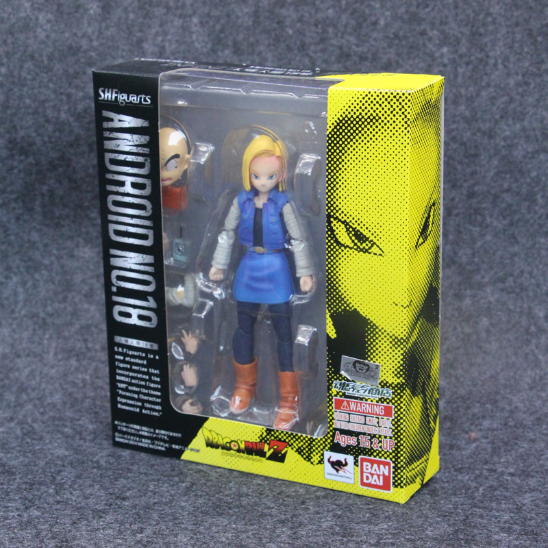 SHF Dragon ball Z Android No. 18 with Logo BJD Dragonball Action figure Toys 14cm(China)
