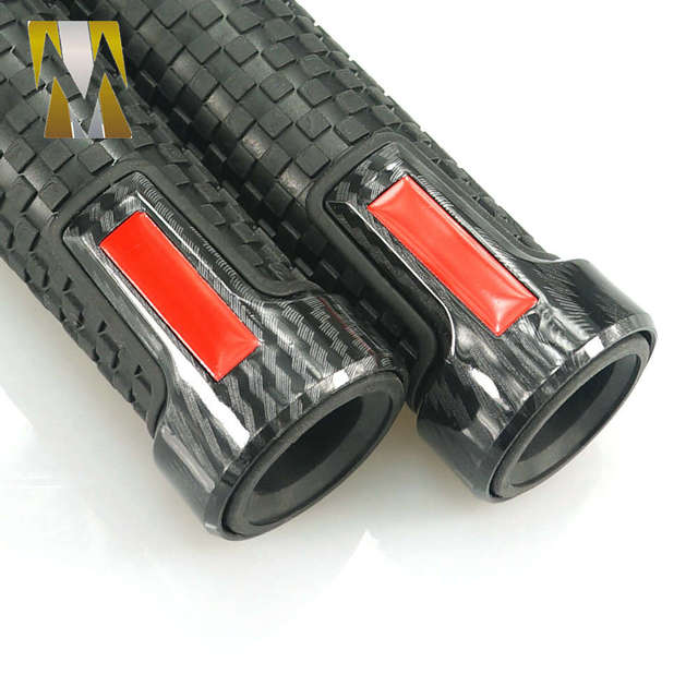 Poignées de guidon en caoutchouc pour Yamaha   Accessoires universels de Moto barre de poignée 22mm Moto pour Yamaha Kawasaki KTM KYMCO rouge
