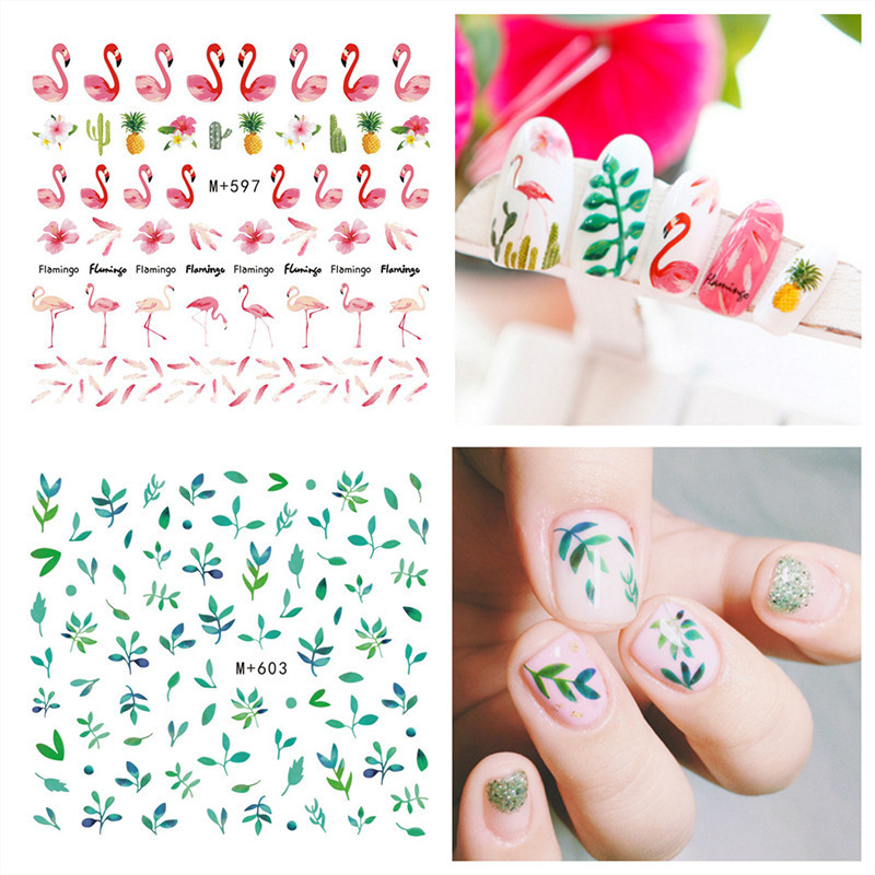 South Korea Cute Waterproof Nail Decals Summer Day Colorful Fruit Nail Sticker Hipster Nail Sticker Watermark Flower Stickers