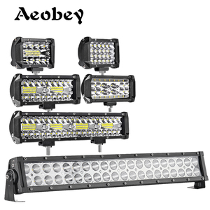 Aeobey Led Work Light Bar 60w 72w 120w 240w LED Driving Light Offroad Spot Flood Beam for 4x4 Offroad ATV UTV Car Tractor Truck