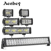 Aeobi barre lumineuse de travail, faisceau dinondation, pour tracteur et camion tout terrain, ATV UTV, Led, 60w 72w 120w 240w LED