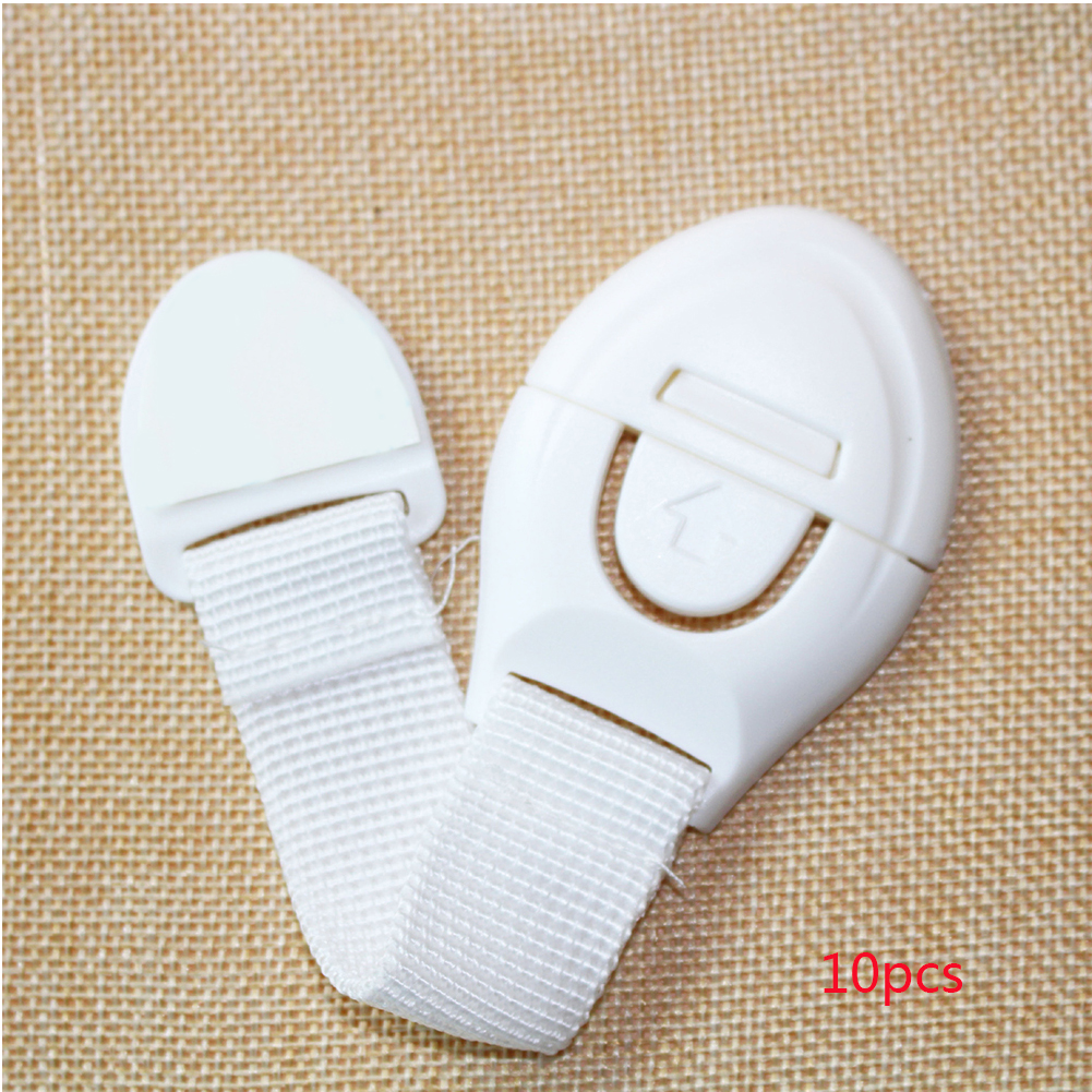 10pcs Door Anti Pinch Multifunction Portable Drawer Cabinet Kid Protection Cloth Home Office Cupboard Safety Lock