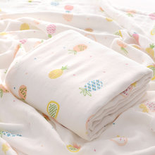 115*115 Large Size Baby Towel Cotton Newborn Infant Baby Blanket Cotton Muslin Baby Blanket(China)