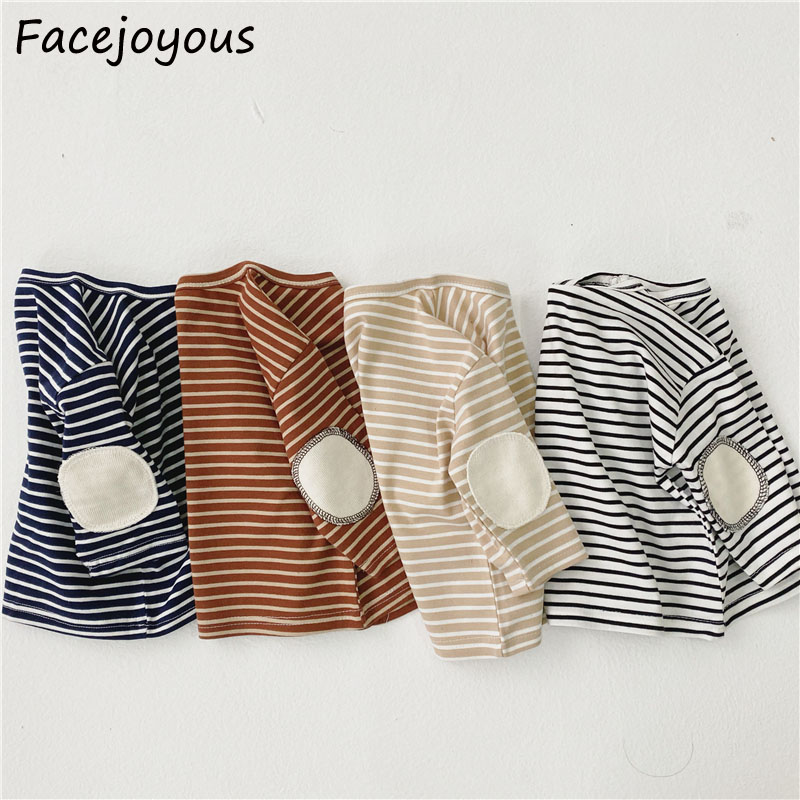 Newborn Baby T Shirt Infant Girls 2020 Spring Baby Girl Boy Long Sleeve Cotton Tops Tees Striped Tshirts For 0-3 Years Clothes