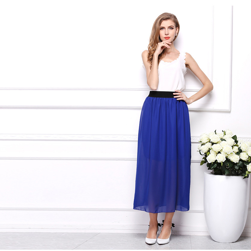 Long Maxi Women Style Sundress Female High 2020 Casual Skirts Fashion Straight Summer Size Female Loose Plus Solid