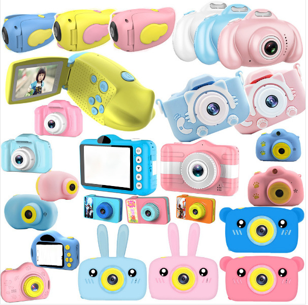 Children's Camera Toy Baby Cute Camera Rechargeable Digital Camera Mini Screen Baby Children's Educational Toys Outdoor Game 1PS