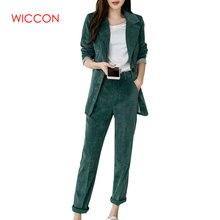2020 Spring New Pant Suits Women's Cotton Blazer Two Piece Sets