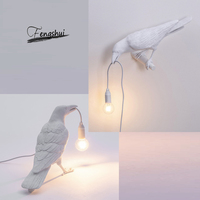 Italian Resin Bird Led Wall Lamp Art indoor Decor Home Bird LED Wall Sconces Bird Living Lamp Animal Furniture Bird Lamp Bedroom