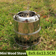 Fire Pit Stainless Steel Outdoor Fireplace Camping Fire Wood Stove Firewood Charcoal Portable Grill Heating Stove Alcohol Stove