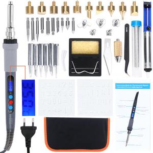Image 1 - Kit de combustión con pantalla LCD Digital Kit de soldadura de grabado, pirograbado, pluma termostática controlada Digital, herramienta para artesanía de madera, 42 Uds.