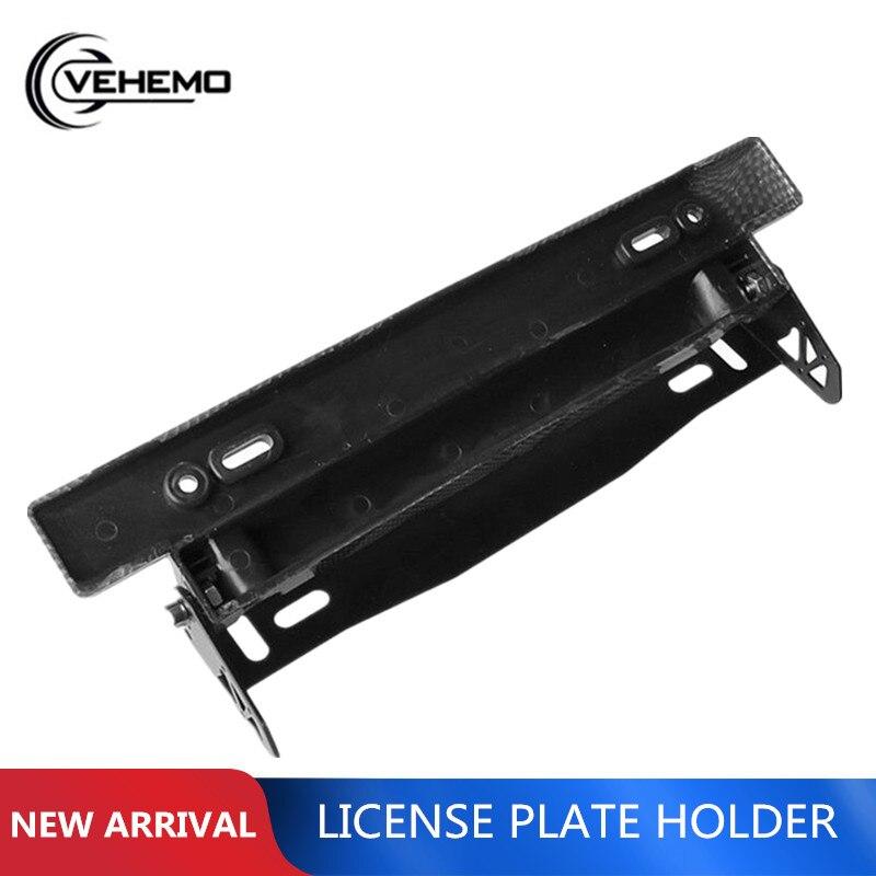 Conversion-Bracket Frame License-Plate Racing-Style Plastic VEHEMO Cool Metal Adjustable