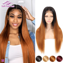 Soft Feel Hair 4x4 Closure Wig Ombre Human Hair Wigs For Bla