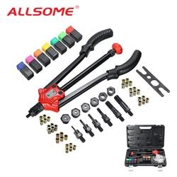 ALLSOME BT-610 Rivet Tool Kit Rivnut Setting Tool Nut Setter NutSert Hand Riveter Guns M3 M4 M5 M6 M8 M10 M12 Luxury Box