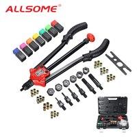 ALLSOME BT 610 Rivet Tool Kit Rivnut Setting Tool Nut Setter NutSert Hand Riveter Guns M3 M4 M5 M6 M8 M10 M12 Luxury Box