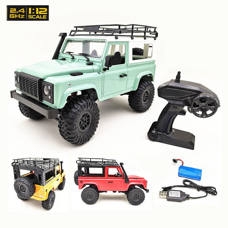 1:12 Scale RC Car MN Model RTR Version WPL2.4G 4WD Remote Control Car off-road Rock Crawler D90 Defender Truck Toys For Kids