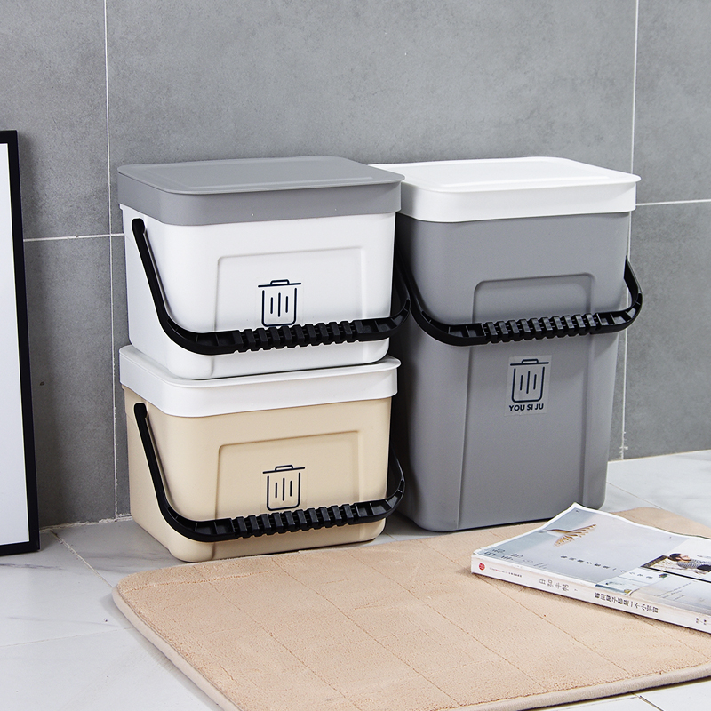 Hanging Trash Bin Can Garbage Recycling Bins Rubish Bin Bathroom Toilet Trash Bin Garbage Bin Kitchen Trash Can Cabinet Door