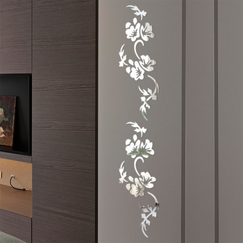 Protective Film Crystal Mirror Anti Fade Innovative Mural Flower Shape Decals Acrylic Home Decoration Wall Stickers Bedroom Art 1