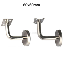 10PCS Stainless Steel Handrail Bracket 60x60mm Wall Mounted Brackets Stairs Support Accessorie Bracket Not Adjustable GF40 customized stainless support brackets for television bracket base television holder mold making