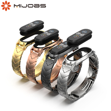 Strap for Xiaomi Mi Band 5 NFC Global Metal Wrist Bracelet for Mi Band 4 Strap Stainless Steel Wristbands for Mi Band 3 Correa