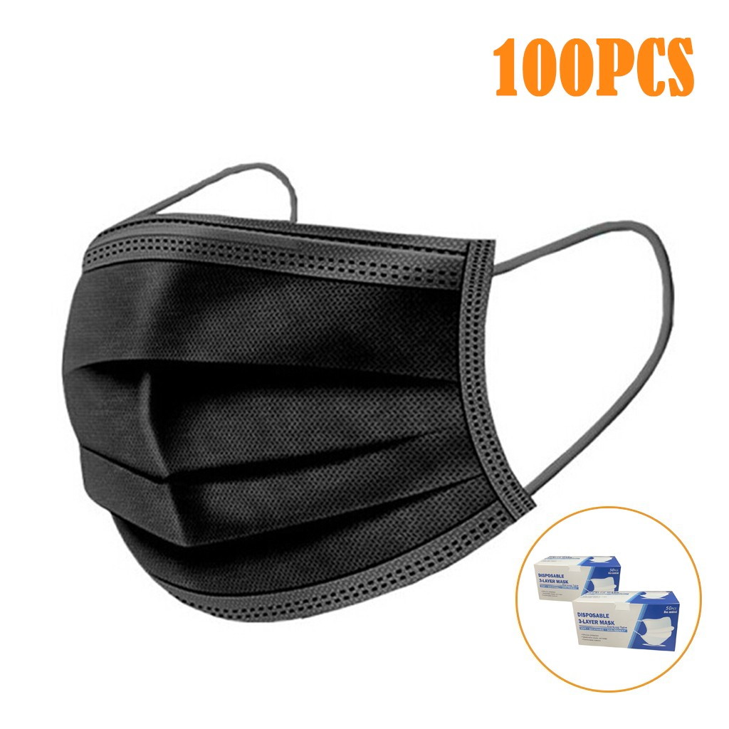 In Stock Air Purifying Face FaceCover Cover Against Dust 3 Layer Mouth Filter FaceCovers 100PCS Mascarillas Mascara Mondkapje