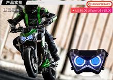 For Kawasaki Z800 Z250 HID Halo Eye Headlight Front Headlamp Assembly Projector Z 800 2013 2014 2015 2016 Motorcycle Accessories motorcycle headlight front headlamp light fits 2013 2014 for kawasaki z800 z250 dedicated