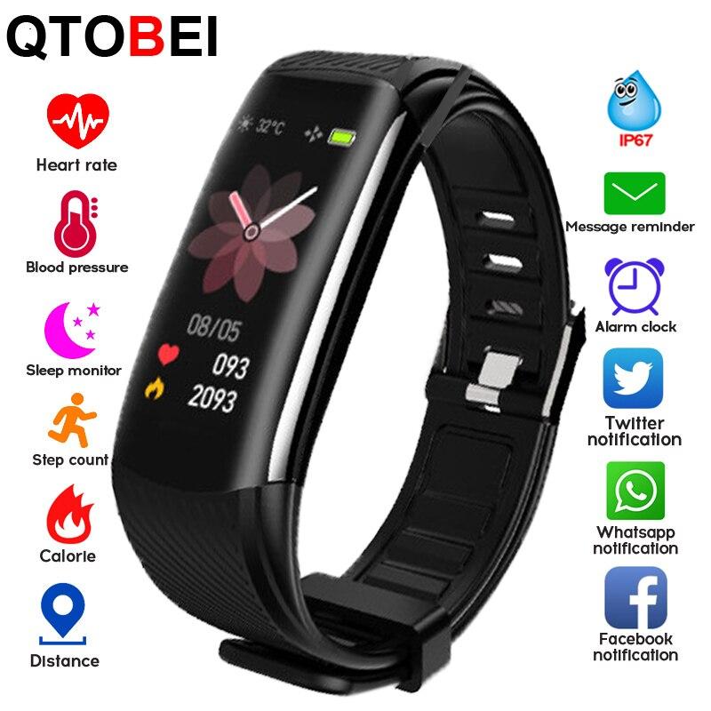 C6S Смарт фитнес-браслет для мужчин и женщин Монитор Сердечного Ритма Смарт-Браслет фитнес-трекер часы WhatsApp напоминание смарт-браслет часы