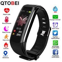 C6s inteligente pulseira de fitness monitor de freqüência cardíaca banda inteligente relógio rastreador de fitness whatsapp lembrete pulseira inteligente relógio