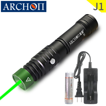 J1 diving laser pointer Green laser diving command light Underwater 100m diving torch Dive instructor diving command laser light
