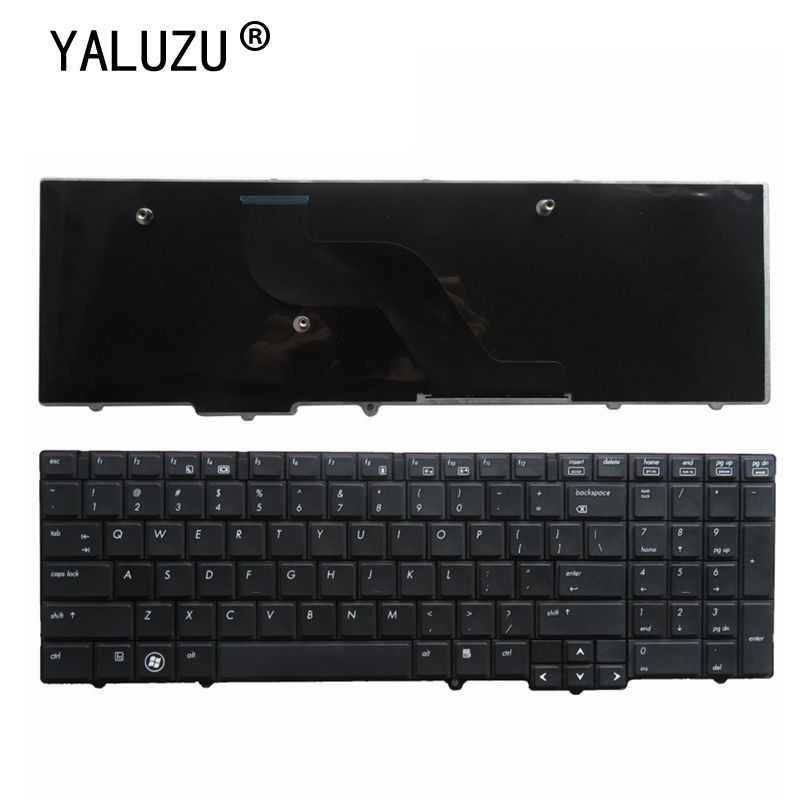 RU/ US Black <font><b>keyboard</b></font> FOR <font><b>HP</b></font> EliteBook 8540 <font><b>8540P</b></font> 8540W Laptop image