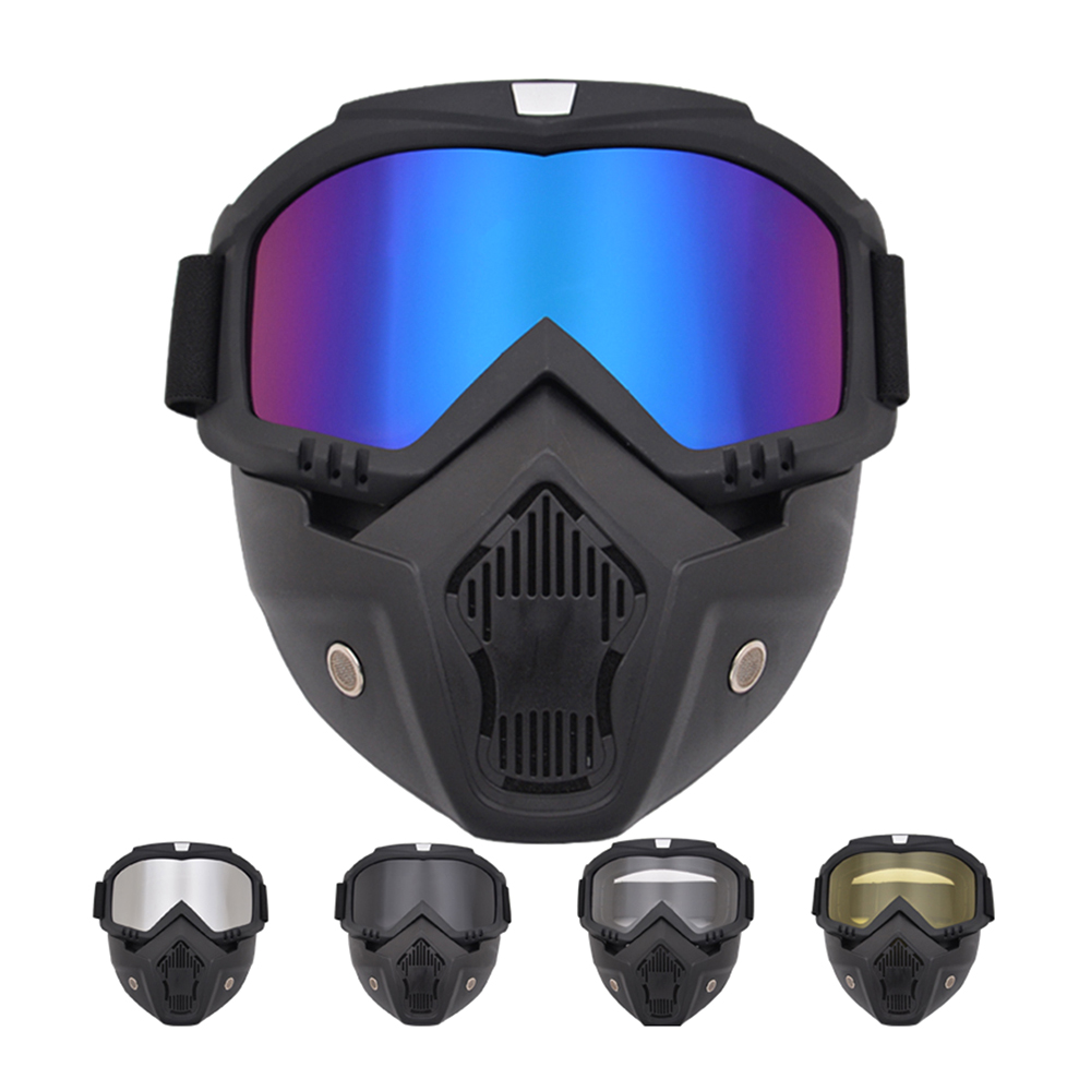 Outdoor Airsoft Mask Tactical Full Face Helmet Paintball Mask Airsoft Safety Protective Anti-fog Goggle Protective Tactical Mask