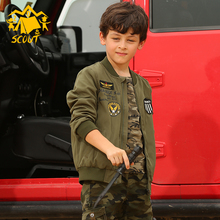 The new 2019 childrens classic camouflage jacket autumn coat casual sports