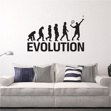 Tennis Evolution Sport Vinyl Wall Decal Wall Stickers Home Decor Art Mural Modern Design Wallpaper PW453 yoyoyu wall decal quotes the kitchen is where the heart is vinyl wall stickers modern design fashion home decor interior diycy74