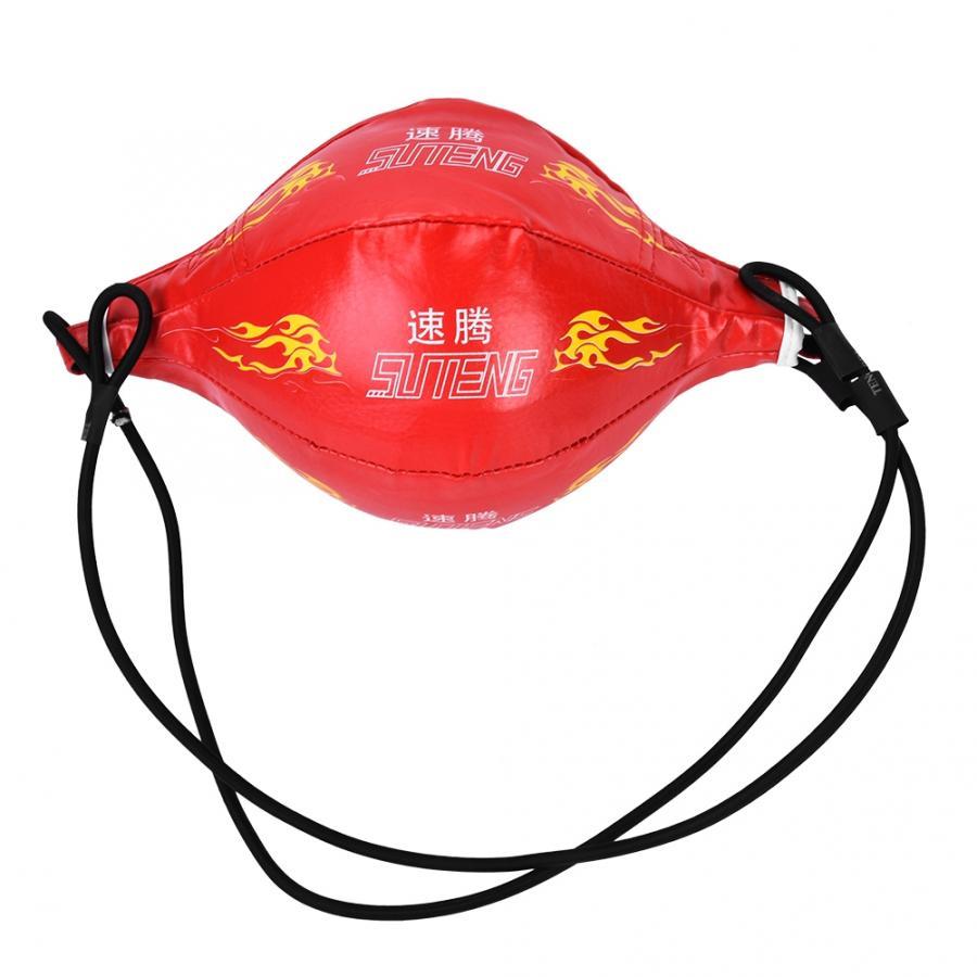 Мяч на резинке для боксирования надувной боксерский Пробивной мяч Kickboxing эластичный мяч для фитнеса спортивные упражнения аксессуары - Цвет: Красный