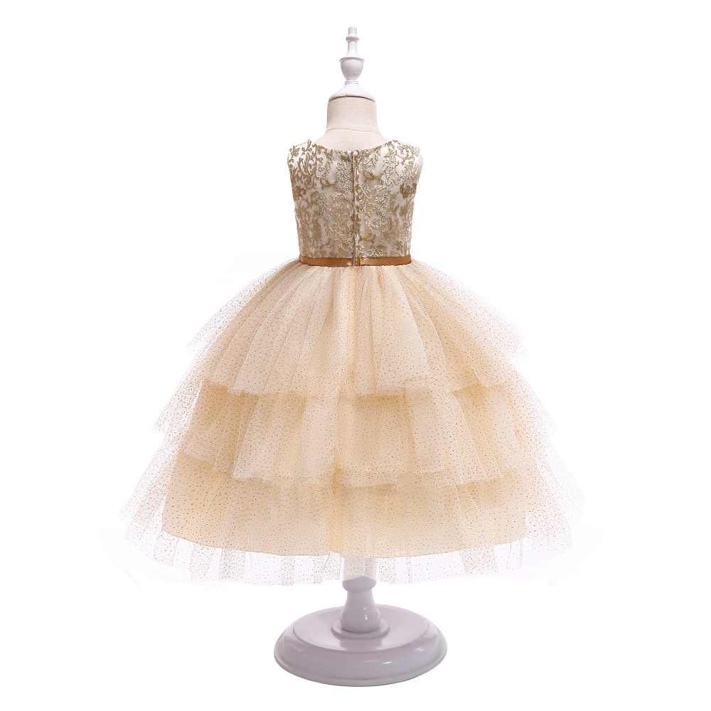 Vestiti Da Ragazza Eleganti.Bambini Vestiti Per Le Ragazze Oro Filo Da Ricamo Elegante Vestito