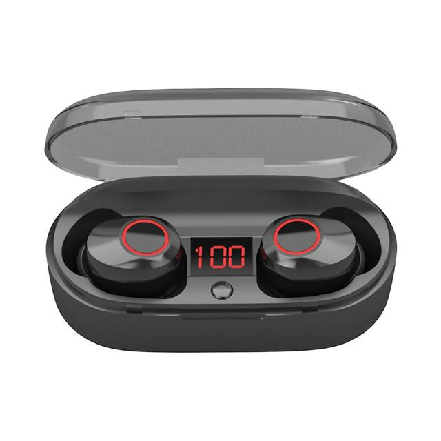 New TWS Bluetooth Earphone Mini Wireless Earbuds HIFI 3D Stereo Headphone with Mic Charging Box Sport Headset for Smart Phone