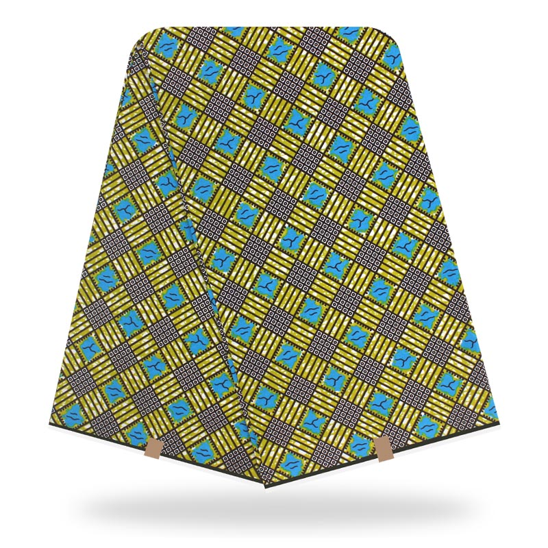 New Arrival Fashionable Dashikiage New African Best Quality Dashiki Plaid Print Real Dutch Wax Fabric Waxe De Haut Qualité