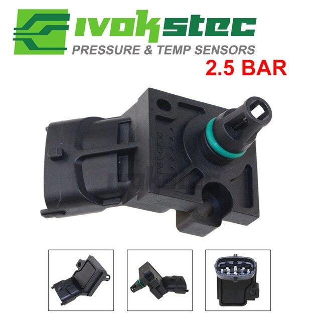 고품질 2.5BAR 흡기 공기 터보 차저 터보 부스트 압력 MAP 센서 Volvo C30 C70 S40 V50 2.5l 0261230090 31355464