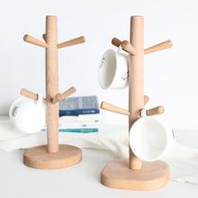 JFBL Hot kształt drzewa drewno filiżanka do herbaty kawy uchwyt do przechowywania strona główna kuchnia zawieszki na kubek stojak wystawowy Drinkware półka z 6 hakami- tanie tanio Stałe Podwójne uchwyty na kubki CN (pochodzenie) Other