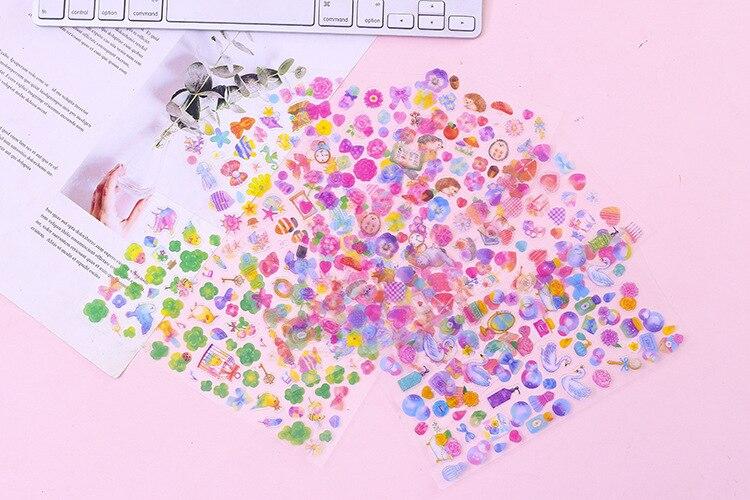 6pcs Romantic Sakura Sticker Creative DIY Album Decoration Scrapbook Sticker w//