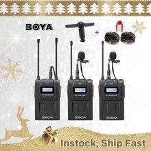 Boya-BY-WM8 Pro K1 K2 UHF de doble canal, sistema con micrófono inalámbrico, receptor de entrevista, transmisor para cámara DSLR de iPhone