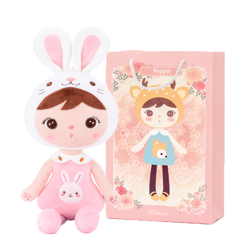 MeToo X Gloveleya Plush Toys Stuffed Animals Dolls Cute Kepple For Children Toy Birthday Christmas Girl Gifts Kids Pink Rabbit