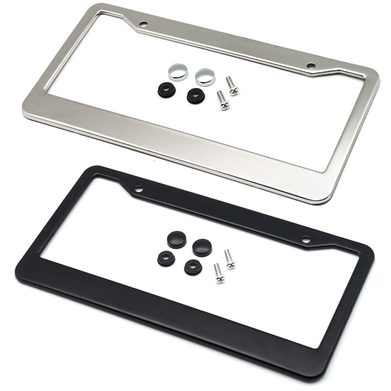 12inchx6inch Car License Plate Frame Holder Stainless Steel For USA American Canada Truck