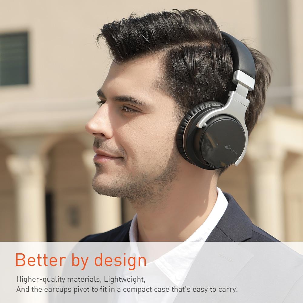 Meidong E7B [Verbeterde] Bluetooth Hoofdtelefoon Active Noise Cancelling Hoofdtelefoon Draadloze Headset Over Ear Met Microfoon Diepe Bas 6