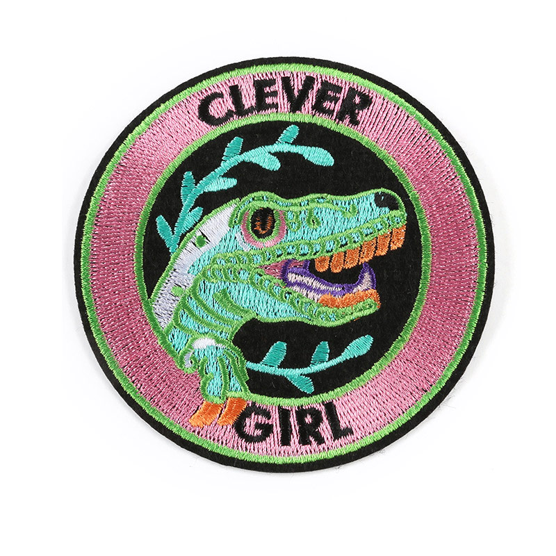 Clever Girl High Quality Embroidered Patch Clothes Iron Patches For Clothing Stripes Badges Stickers Garment Appliques Wholesale