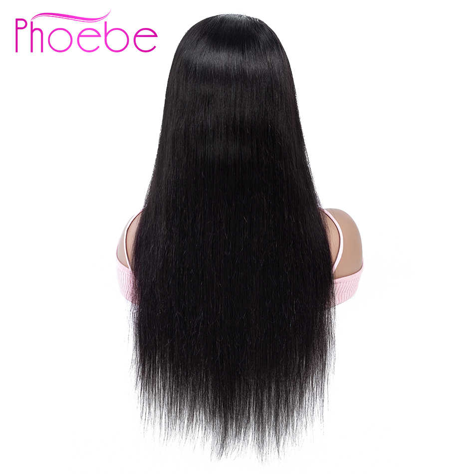 Phoebe 13x4 прямые человеческие волосы на кружеве парики Remy человеческие волосы 150% плотность 28 30 дюймовые бразильские волосы парики для черных женщин