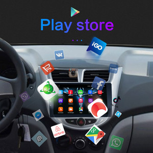 Image 4 - For Solaris 1 2 Hyundai Accent Verna 2G + 32G Car Radio 2 din android 8.1 Video multimedia Player Navigation GPS WiFi 2011 2018