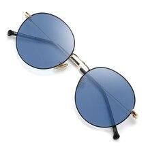 2020 Photochromic משקפי שמש עגול זיקית נהיגה משקפי שמש Photochromic שמש משקפיים כחול חום אפור ורוד סגול
